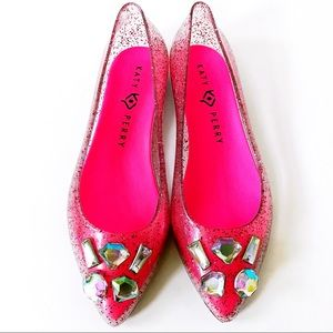 Katy Perry The Princess Pink Glitter Jelly Flats